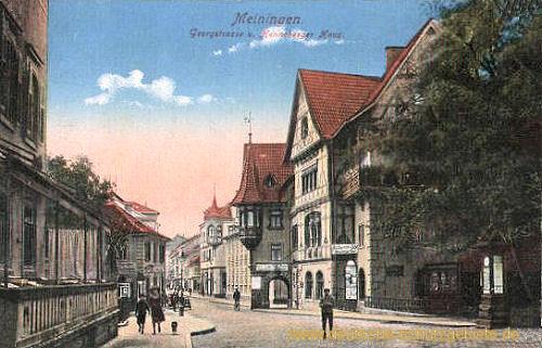 Meiningen, Georgenstraße und Henneberger Haus