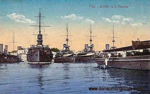 Pola, Schiffe in I. Reserve