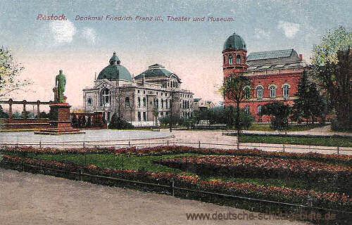 Rostock, Denkmal Friedrich Franz III., Theater und Museum