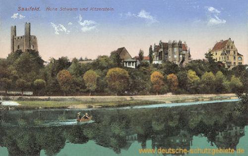 Saalfeld, Hohe Schwarm und Kitzerstein