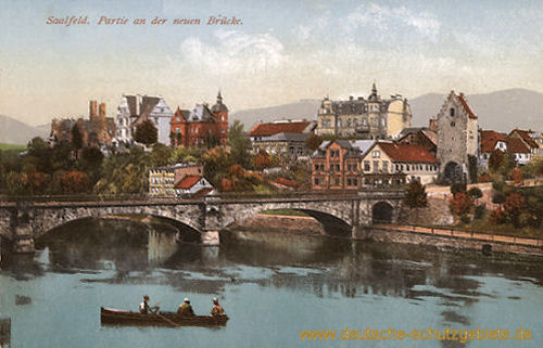 Saalfeld, Partie an der neuen Brücke