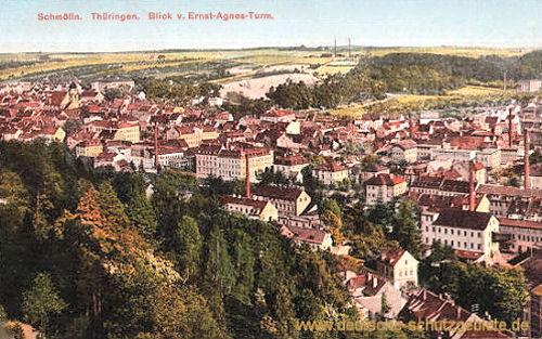 Schmölln, Blick vom Ernst-Agnes-Turm