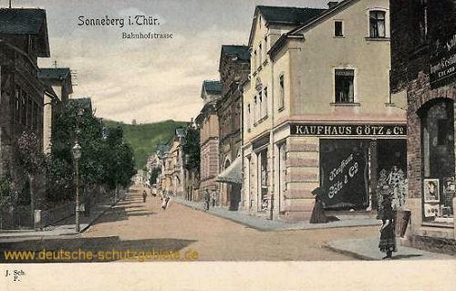 Sonneberg, Bahnhofstraße