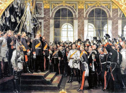 Im Spiegelsaal von Versailles, Ausrufung Wilhelms I. zum Deutschen Kaiser