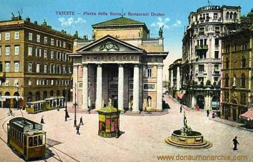 Trieste, Plazza della Borsa e Restaurant Dreher
