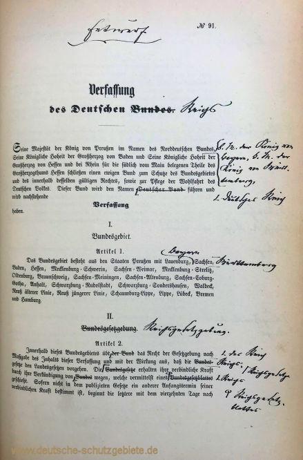 Verfassungsentwurf 1871, Seite 1