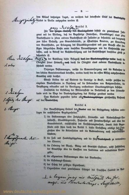 Verfassungsentwurf 1871, Seite 2