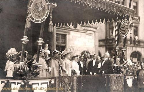Kaiser-Wilhelm II., Besuch von Altenburg 1909