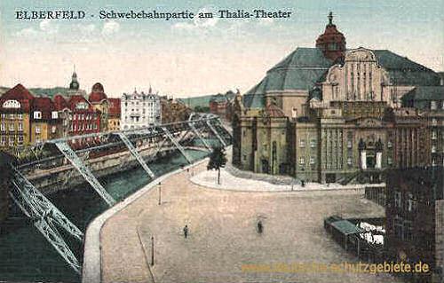 Elberfeld, Schwebebahnpartie am Thalia-Theater