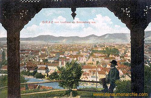Graz vom Lusthaus am Schlossberg aus