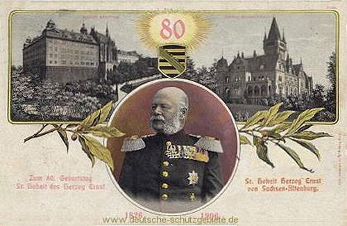 Zum 80. Geburtstag Seiner Hoheit des Herzogs Ernst von Sachsen-Altenburg