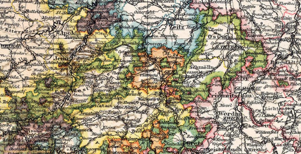 Herzogtum Sachsen-Altenburg, Karte