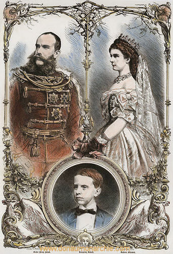 Kaiser Franz Joseph, Kaiserin Elisabeth, Kronprinz Rudolf