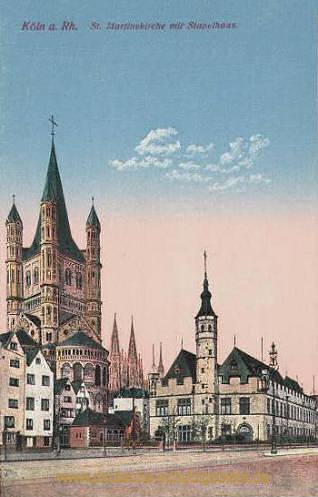 Köln, St. Martinskirche mit Stapelhaus