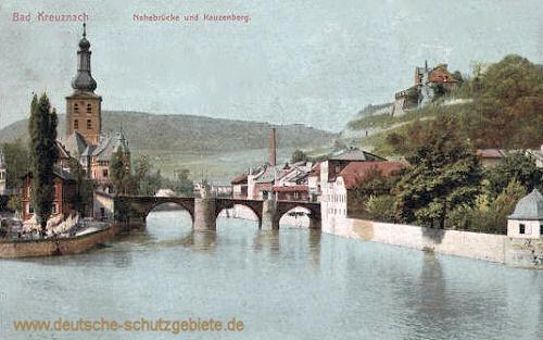 Bad Kreuznach, Nahebrücke und Kauzenberg