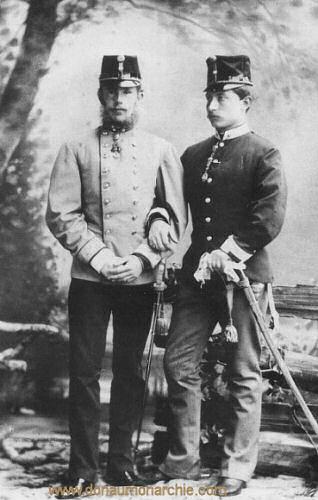 Kronprinzen Rudolf von Österreich und Wilhelm von Preußen, 1883