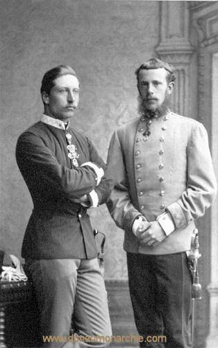 Die Kronprinzen Wilhelm von Preußen und Rudolf von Österreich-Ungarn 1883