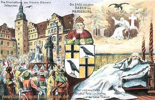 Merseburg, die Sage von dem Raben zu Merseburg