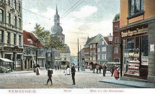 Remscheid, Markt, Blick von der Alleestraße