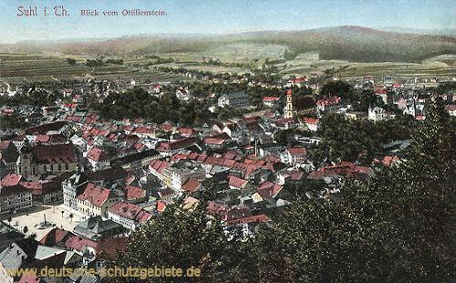 Suhl i. Thür., Blick vom Ottilienstein