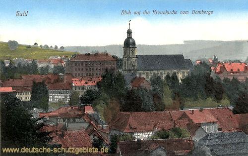 Suhl i. Thür., Blick auf die Kreuzkirche vom Domberge