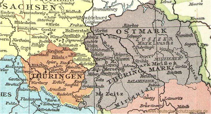 Thüringen und Mark Meißen um das Jahr 1000