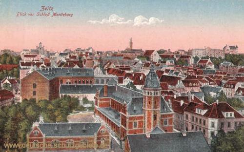 Zeitz, Blick vom Schloss Moritzburg