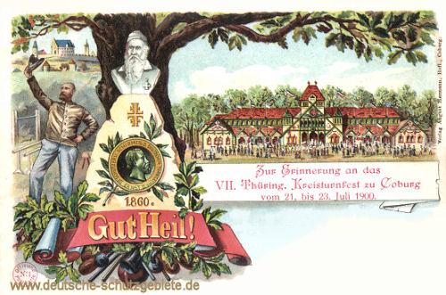 Coburg, VII. Thüringer Kreisturnfest 1900