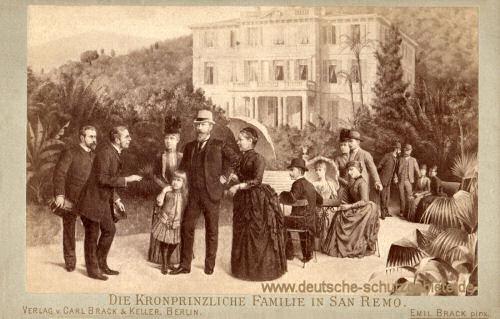 Die Kronprinzliche Familie in San Remo