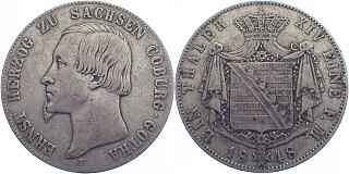 Herzogtum Sachsen-Coburg-Gotha, 1 Taler 1848