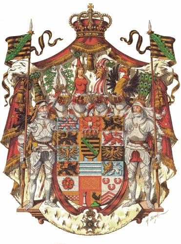 Herzogtum Sachsen-Meiningen, Großes Staatswappen