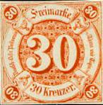 30 Kreuzer, Thurn und Taxis mit Währung Gulden