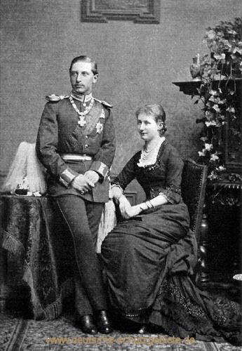 Wilhelm und Auguste Viktoria, 1881