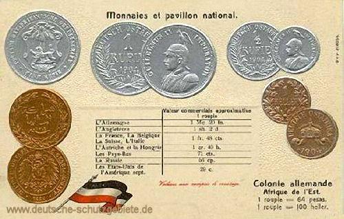 Münzen aus Deutsch-Ostafrika