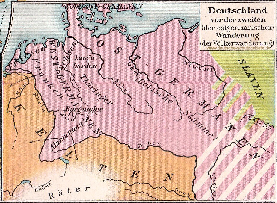 Deutschland vor der zweiten (der ostgermanischen) Wanderung