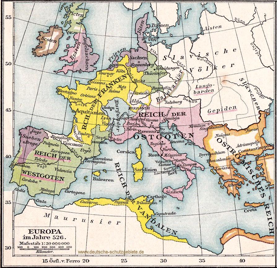Europa im Jahr 526