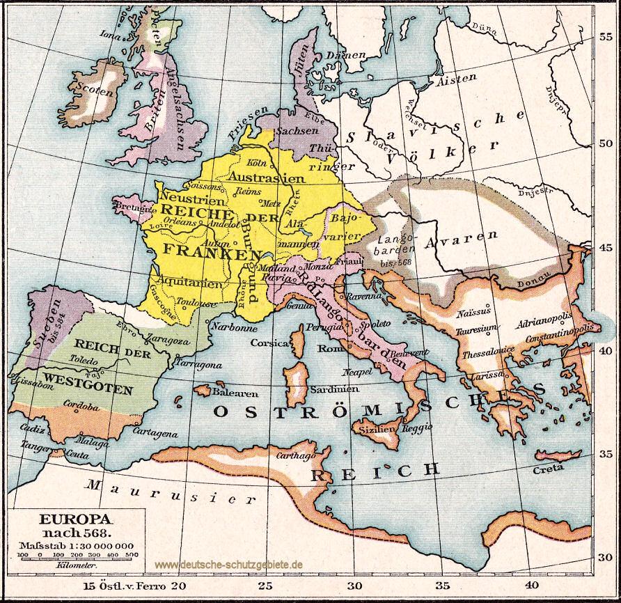 Europa nach 568