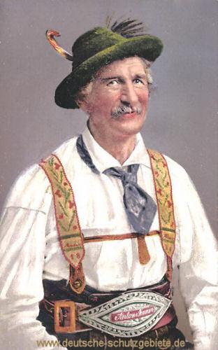 Partenkirchen, Bauer in oberbayerischer Tracht