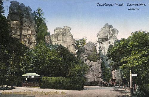 Teutoburger Wald. Externsteine - Landseite