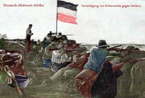 Deutsch-Südwest-Afrika, Verteidigung von Hohewarte gegen Hereros