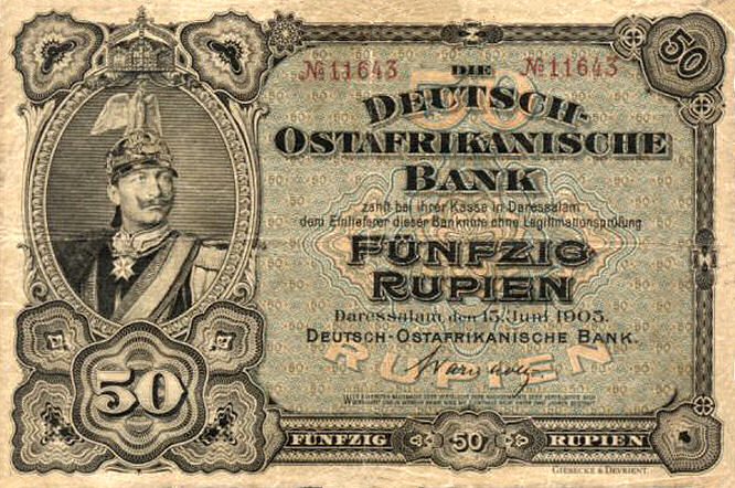 Deutsch-Ostafrikanische Bank 50 Rupien, 1905