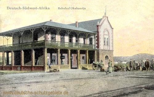 Deutsch-Südwest-Afrika, Bahnhof Okahandja