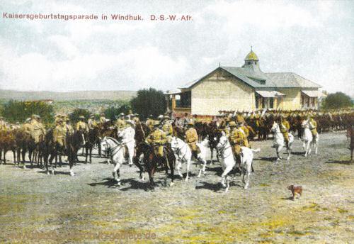 Deutsch-Südwest-Afrika, Kaisergeburtstagsparade in Windhuk