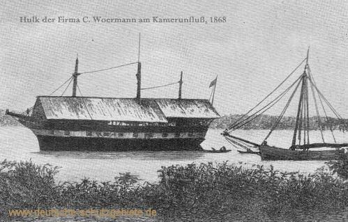 Hulk der Firma C. Woermann am Kamerunfluss, 1868