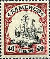 Kamerun 40 Pfennig, 1900