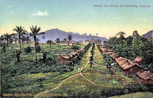 Kamerun, Ansicht von Victoria mit Buea-Weg