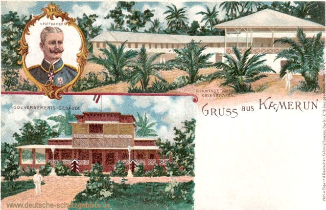 Kamerun, Gouvernements-Gebäude, von Puttkamer, Plantage am Kriegshafen