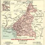 Kamerun, Landkarte 1912