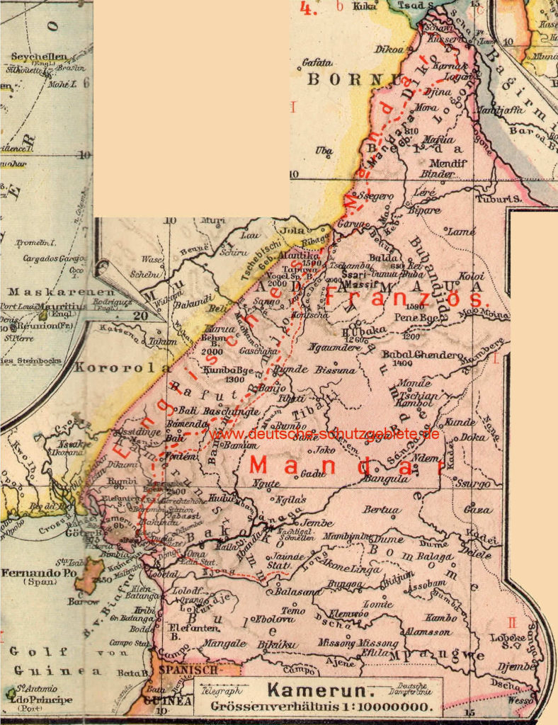 Kamerun, Landkarte 1919