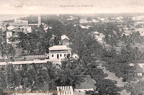 Lome, Bremerstraße und Umgebung